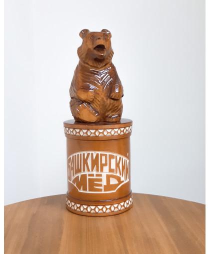 """Сувенирный медведь """"Мишка на чиляке"""" 0,7 кг РЕЗ"""
