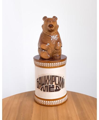 """Сувенирный медведь """"Мишка на чиляке"""" 0,7 кг ЧБ"""