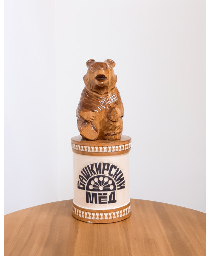 """Сувенирный медведь """"Мишка на чиляке"""" 0,45 кг ЧБ"""
