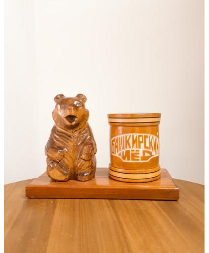 """Сувенирный медведь """"Мишка на пасеке"""" 0,15 кг Чиляк БП"""