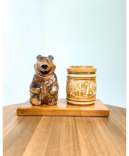 """Сувенирный медведь """"Мишка на пасеке"""" 0,15 кг Тэпэн БП"""