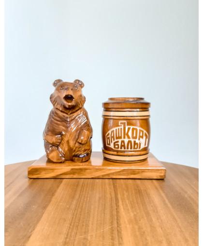 """Сувенирный медведь """"Мишка на пасеке"""" 0,15 кг Тэпэн Башкорт балы"""