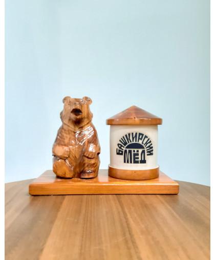 """Сувенирный медведь """"Мишка на пасеке"""" 0,15 кг Улей"""