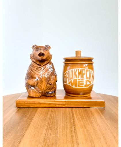 """Сувенирный медведь """"Мишка на пасеке"""" 0,15 кг Урман"""