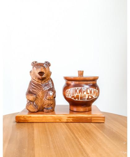 """Сувенирный медведь """"Мишка на пасеке"""" 0,25 кг Чугунок"""