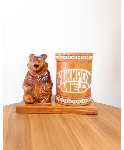 """Сувенирный медведь """"Мишка на пасеке"""" 0,45 кг Чиляк РЕЗ"""