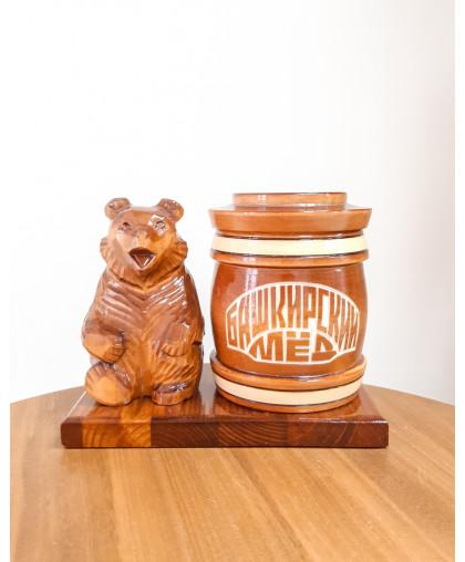 """Сувенирный медведь """"Мишка на пасеке"""" 0,45 Тэпэн БП"""