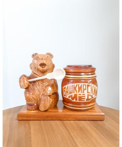 """Сувенирный медведь """"Мишка на пасеке"""" 0,25 кг Тэпэн БП"""