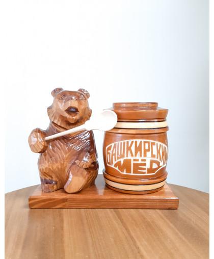 """Сувенирный медведь """"Мишка на пасеке"""" 0,45 кг Тэпэн БП"""