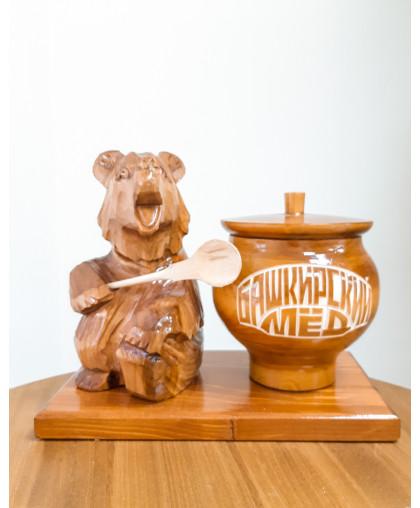 """Сувенирный медведь """"Мишка на пасеке"""" 0,6 кг Чугунок"""