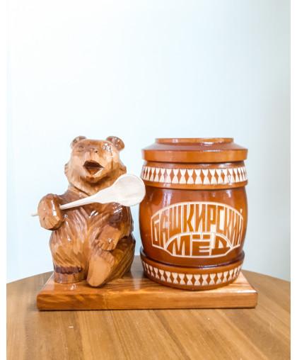 """Сувенирный медведь """"Мишка на пасеке"""" 0,7 кг Тэпэн РЕЗ"""
