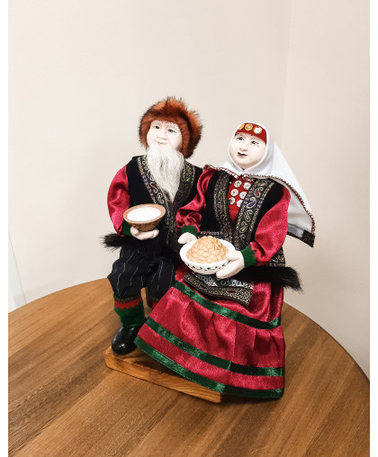 """Керамическая кукла """"Счастливая пара"""""""